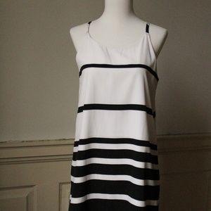 BB DAKOTA Amelia Black & White Shift Dress